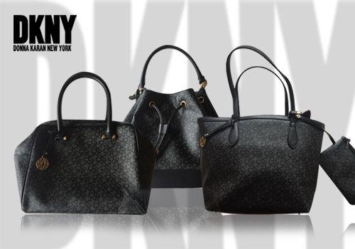 Γυναικείες τσάντες DKNY από μαύρο μονογραμμένο PVC σε 3 σχέδια!