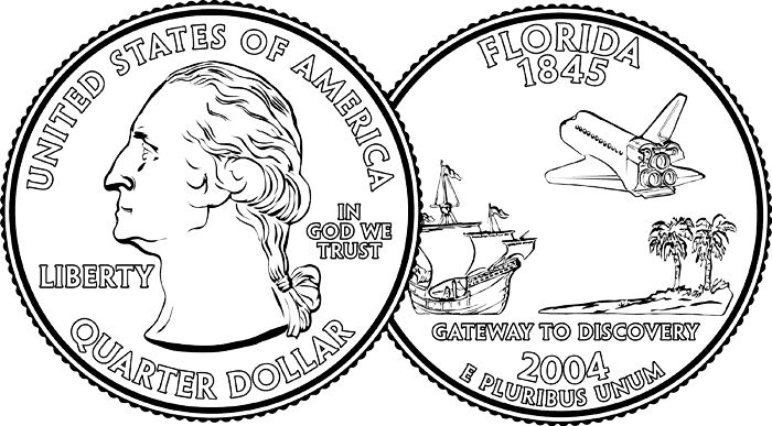 Quarter Coin Clipart Black And White Quarter clipart ...