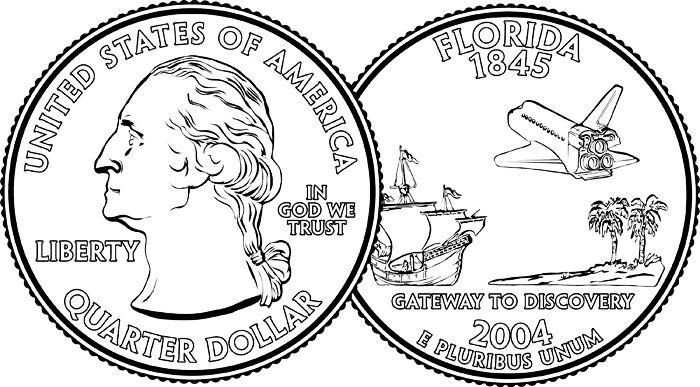 Quarter Coin Clipart Black And White Quarter clipart
