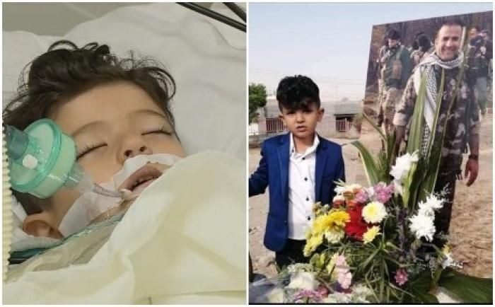 وفاة طفل بجلطة دماغية حزن ا على والده الذي قتله داعش Lab Coat Coat