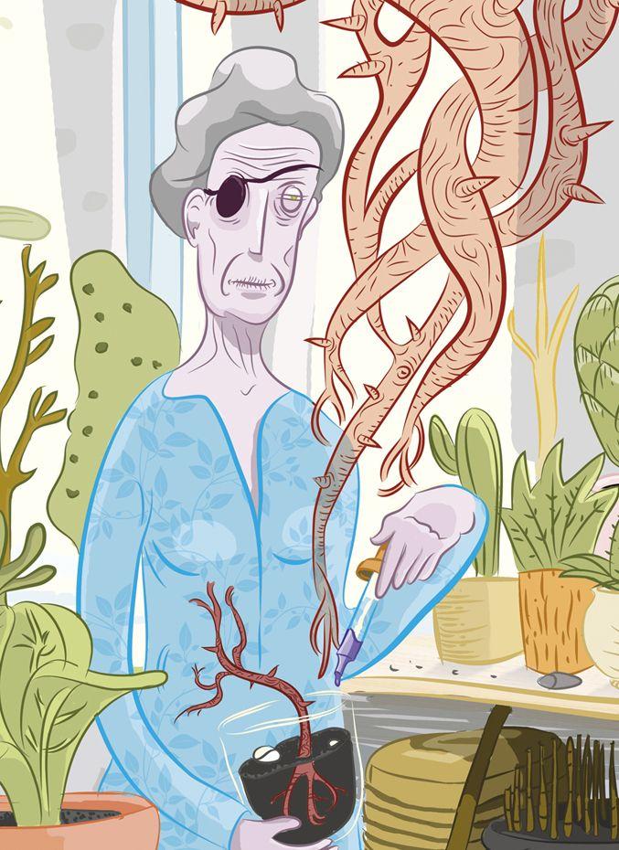 Planta espíritu. Fragmento_Fosfenos.  El silencio era la música que prefería a lo largo de todo el día, pero sobre todo por las mañanas. —El sonido de los vegetales creciendo— se decía. En su voluntario exílio las plantas eran los únicos seres dignos de su atención.