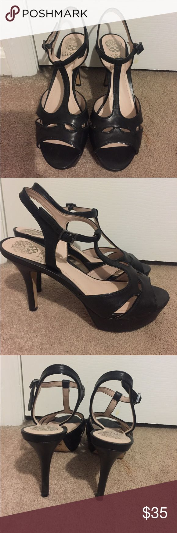Vince camuto black heels Very cute heels that go with dresses and dressy pants Vince Camuto Shoes Heels