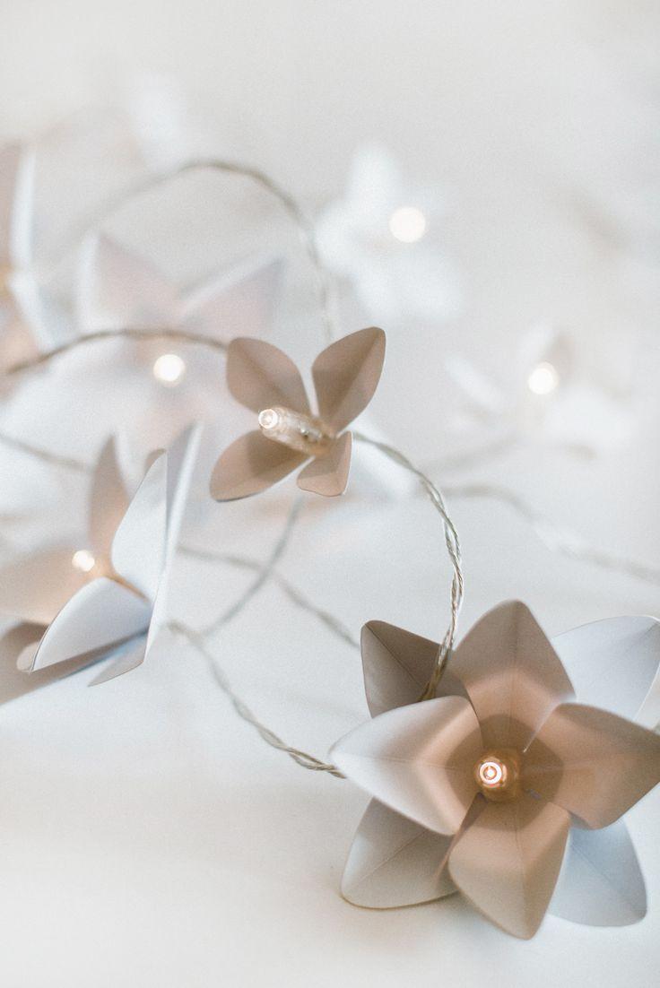 White light garland made by Edinas paper everydays