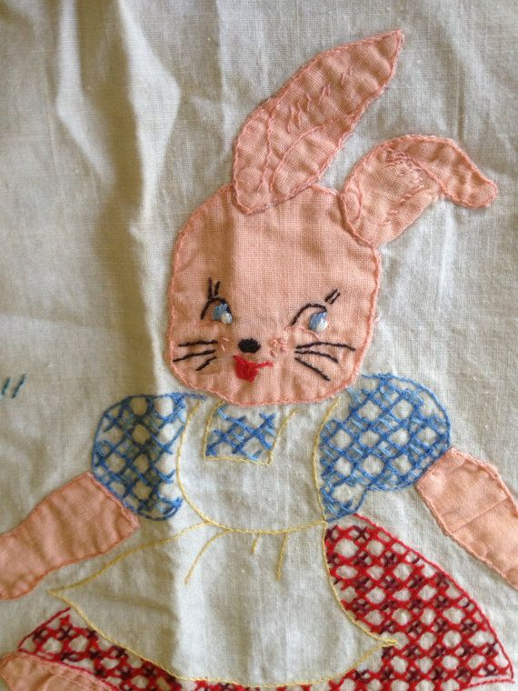 Vintage Baby Crib Bed Quilt Coverlet Absolutely by SweetHistory, $30.00