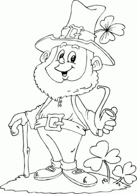 Printable Leprechaun Pattern | ... Kids / 1000+ Free Printable Coloring Pages for Kids - Coloring Books