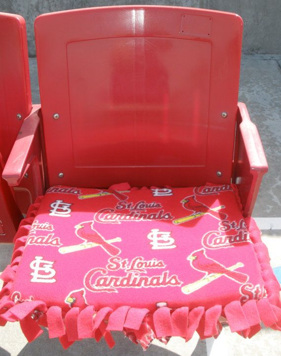 St. Louis Cardinals Stadium Seat Cushion by CozyandSoft on Etsy, $25.00