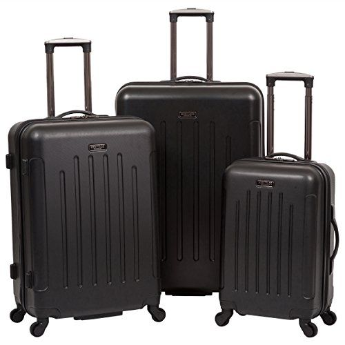 Heritage Lincoln Park Lightweight 3PC Hardside Spinner Luggage Set Black ** See this great product.