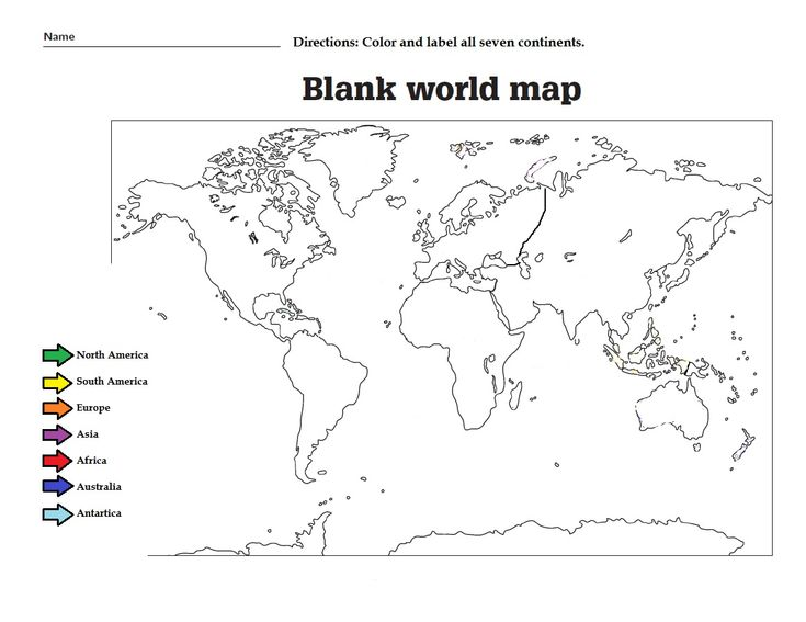 Label the the continents and color them. Great worksheet for kids ...