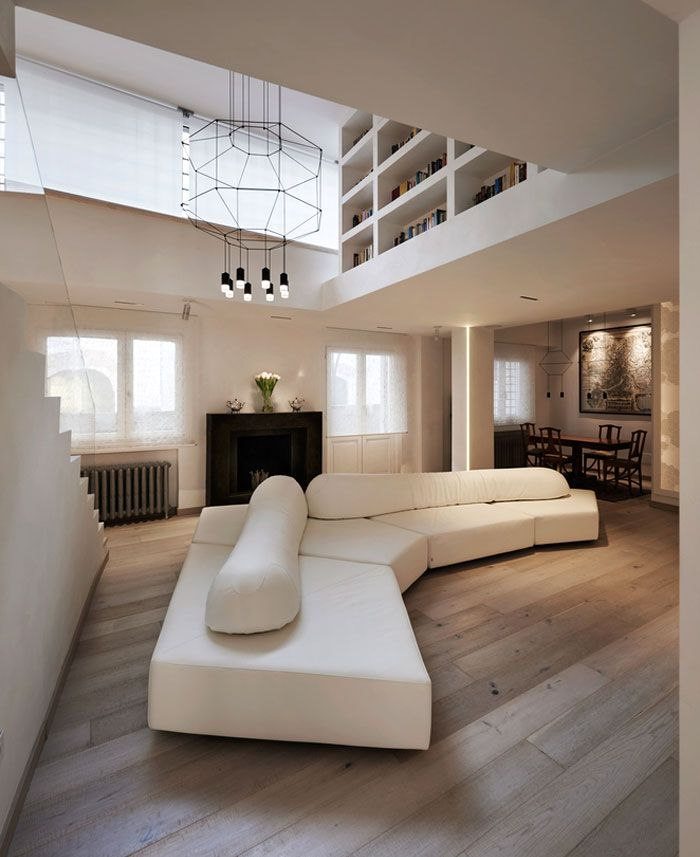 Modern Residence Near Piazza Navona In Rome Penthouse De Luxe Decoration Interieure Et Decoration