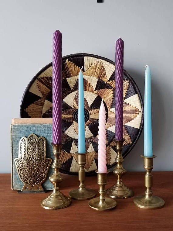 Collections of brass candlestick holders add instant glam to your home decor. Hey, I found this really awesome Etsy listing at https://www.etsy.com/ca/listing/591191733/set-of-brass-candlestick-holders-5