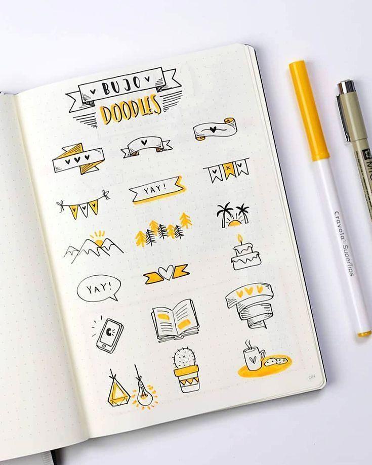 Niedliche Kugeljournalgekritzel durch ig @ dutch_dots. | bin … – #Aktivitäten #bullet #cute #doodles #igdutchdots
