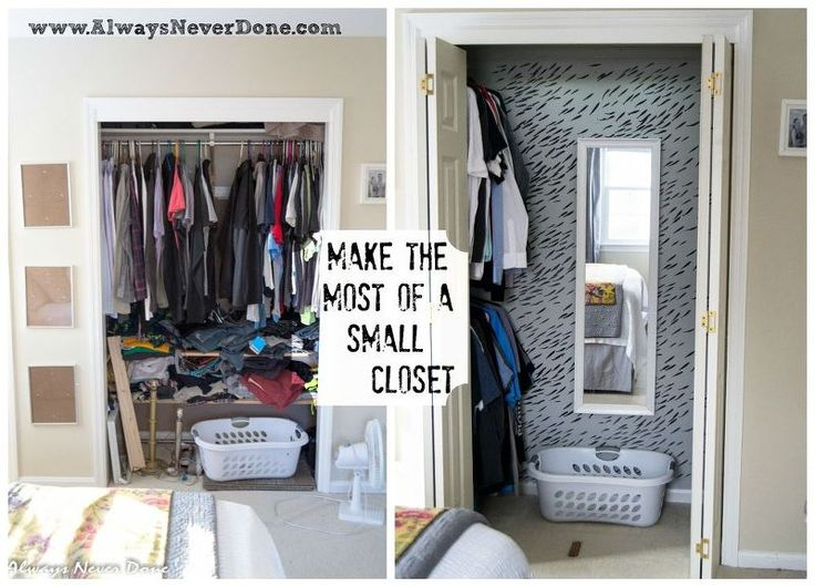 Make The Most Out Of A Small Closet Bedroom Ideas Closet Organizing Painting Storage Ideas