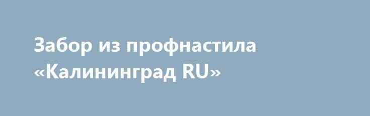 Забор из профнастила «Калининград RU» http://www.mostransregion.ru/d_205/?adv_id=718 Качество и прочность конструкции гарантирует безопасность участка. Роскошные заборы из евроштакетника от производителя, отличающиеся своей надежностью, вы имеете возможность приобрести в компании «Защита дома». Потребителю дается возможность подбора способа окрашивания и цвета планируемого ограждения. Установка забора будет сделана компанией быстро и качественно.