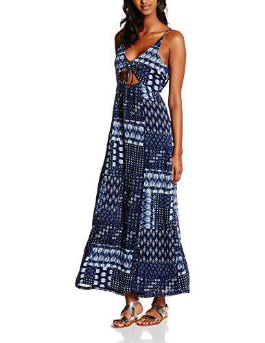 #edc by #ESPRIT #Damen #Kleid #066CC1E008 mit #Rückendetails, #Mehrfarbig #(Navy…