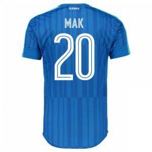 Slovakia National Team 2016 Away Jersey Blue Soccer Shirt #20 Mak [E351]