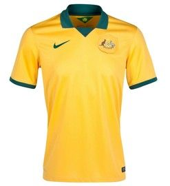 The Australia 2014 FIFA World Cup Home Jersey is very similar to the Brazil World Cup football shirt, a distinct difference is the Socceroos badge on the front of the soccer jersey. here are more items to help you show your support.  http://www.soccerbox.com/australia-football-shirts-jerseys