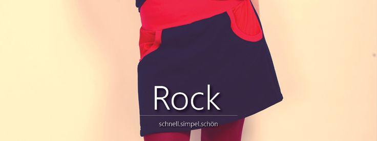 Hier entstand ein schnell zu nähender Rock für Damen. Wie er genäht wird zeigen wir Dir hier! Inclusive Tutorial Freebook. Einfach, schnell, absolut HIP!