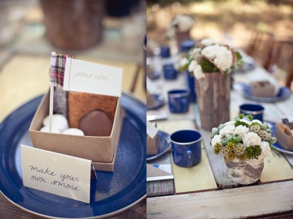 s'mores as wedding favoursCamping Theme, Cute Ideas, Theme Wedding, Favors Boxes, Camps Parties, Campground Wedding, Camps Theme, Camps Wedding, Outdoor Receptions