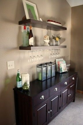 iheart organizing easy and cheapo christmas display find this pin and more on home bar liquor cabinet