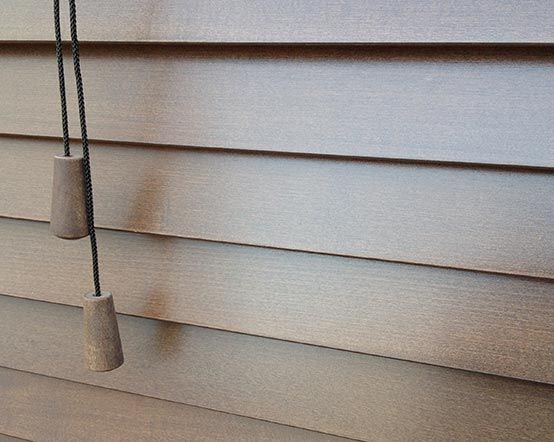 sintra walnut venetian blinds with dark brown wooden slats