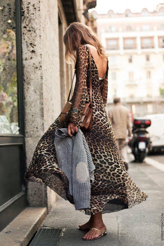Maxi: Maxi Dresses, Leopard Print, Leopardprint, Leopards Prints Dresses, Street Style, Animal Prints, Dresses Outfits, The Dresses