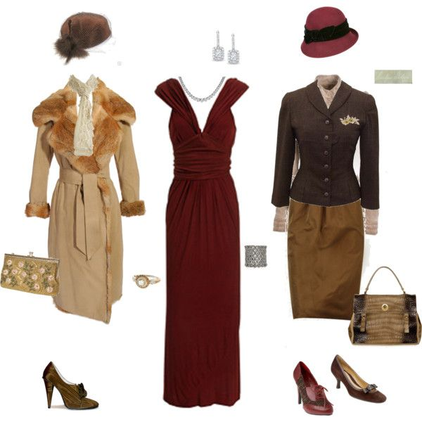 """Gosford Park Style"" by danielledelamont on Polyvore: Abbey Inspired, Parks, Abbey Fashion, Downton Abbey, Vintage Inspired"