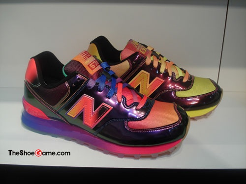 """Urban Gear gives an early glimpse of the forthcoming New Balance """"Rainbow"""" 574 pack.  Slated to be released in Spring 2013."""