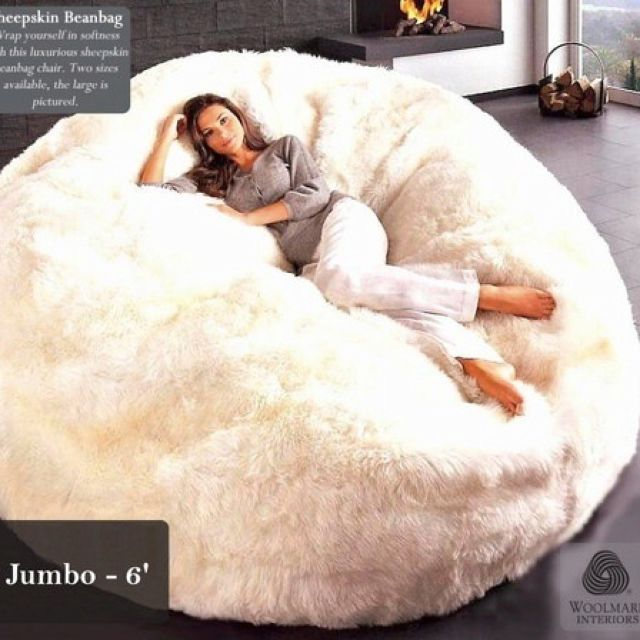 Celeb Tx sheepskin bean bag bed!