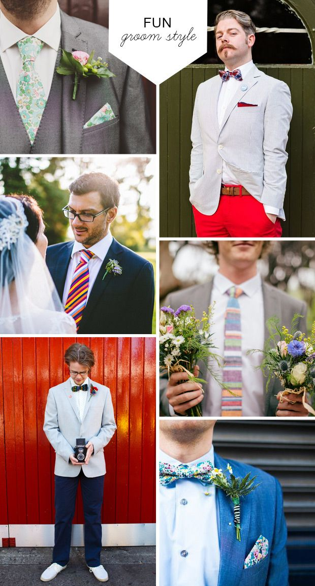 Fun and Quirky Groom Style - Great Groom Style for 2014 | One Fab Day