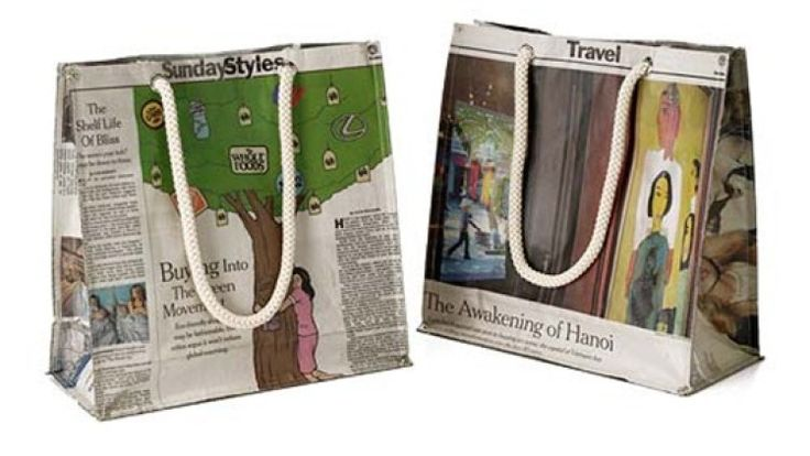 How to make a paper bag from old newspapers