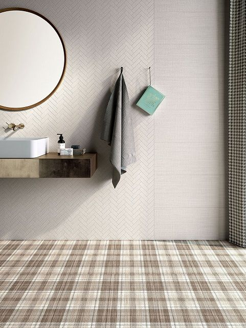 Cersaie Tile Fair 2016 Starts With A Bang. Tartan PatternTiled BathroomsArt  TilesFloorFabricStonewareLinensPorcelainPavement