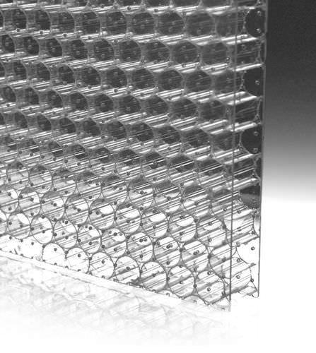 Polycarbonat-Platte / Stegplatten / lichtdurchlässig / für Fassadenverkleidung / für Trennwandsysteme LIGHTBEN ACOUSTIC™ BENCORE