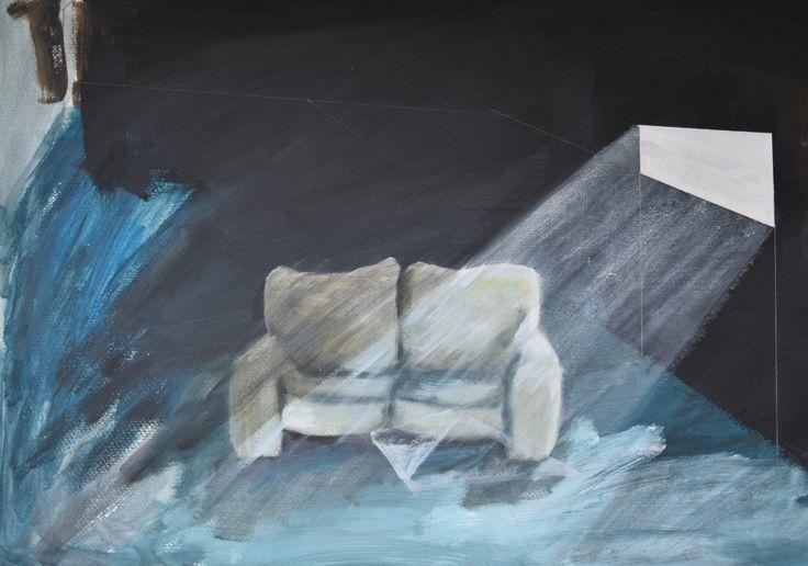 Kelder1, acryl op papier (50 x 70)