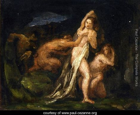 Satyrs and Nymphs by Paul Cezanne
