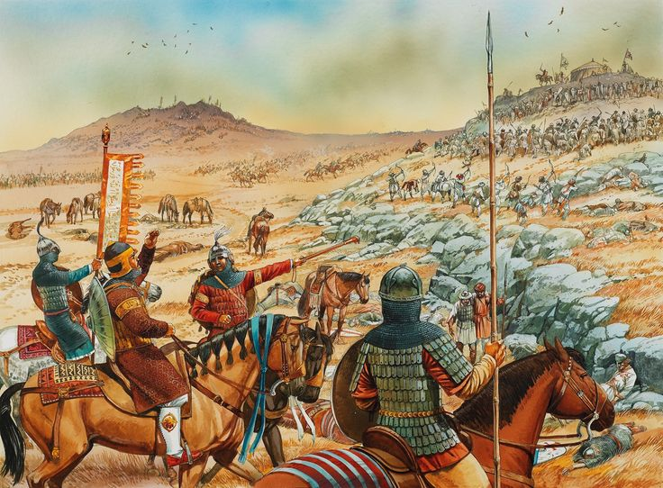 Saladin and his son al-'Afdal at the battle of Hattin, 4 July 1187