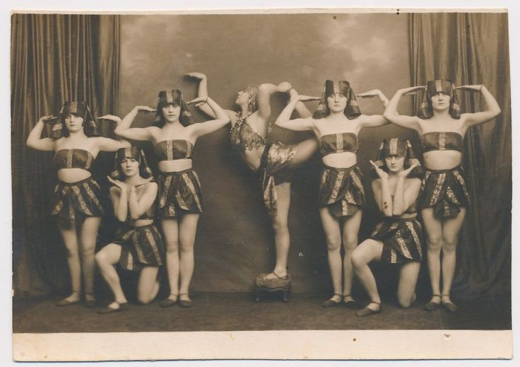 Contemporary ballet beautiful dancers pretty Girls on stage Old B&W photo Snap
