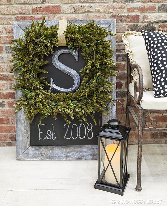 A boxwood-inspired wreath.  from Hobby Lobby Instagram