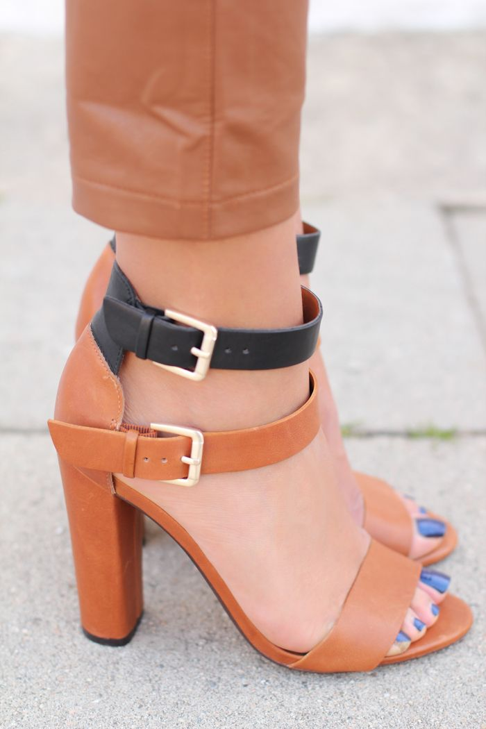 Zara high heel sandals with buckles