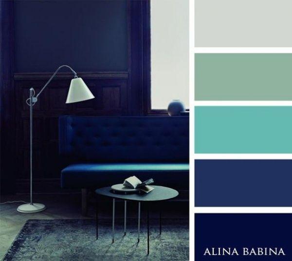 15Combinaciones ideales decolores para interiores - azules 2
