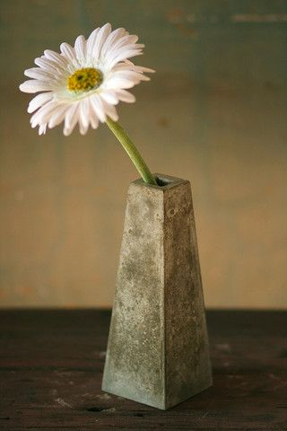 Concrete Bud Vase by Obelisk design, available from Annie Housewife on SALE now!