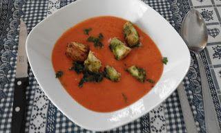 Adriana  Hobby: Supă cremă de legume - însoţită de crutoane aromat...