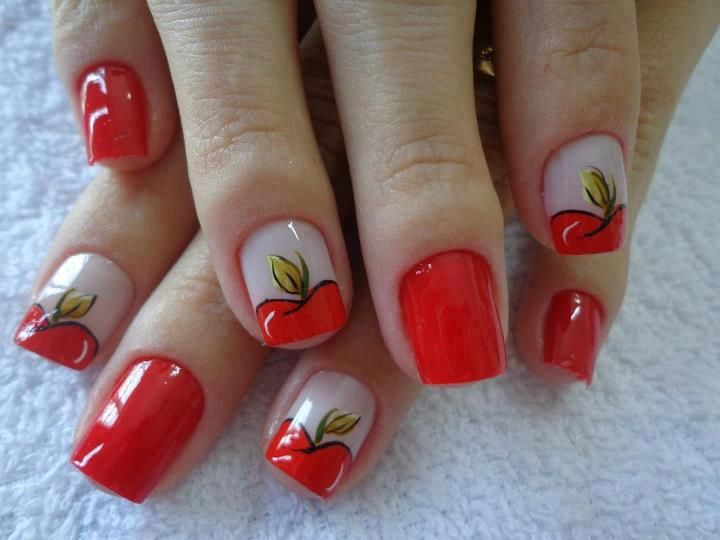apple #nail #nails #nailart