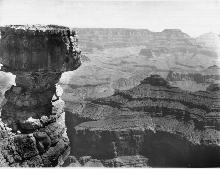 """California Historical Society Collection, 1860-1960 :: Title Insurance and Trust, and C.C. Pierce Photography Collection, 1860-1960 :: """"Thor's hammer"""" or """"The Hammer of Thor"""" rock formation in the Grand Canyon, ca.1900-1930"""