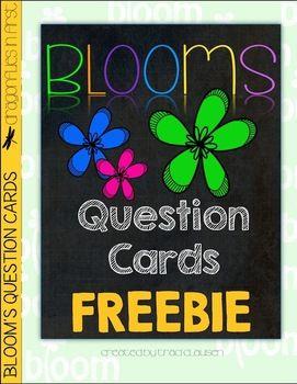 Bloom's Question Cards FREEBIE - Boom's Taxonomy by Teachers Pay Teachers - Free