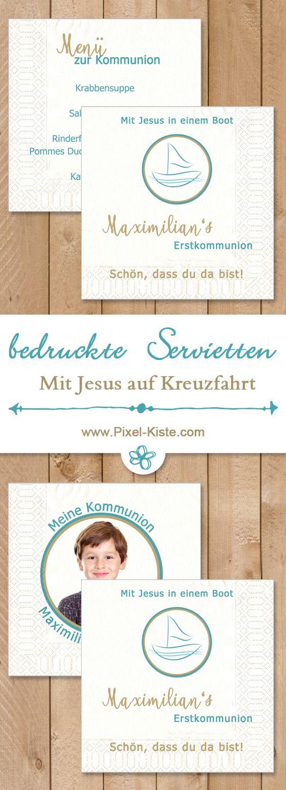 Fotoservietten bedrucken lassen zur Kommunion oder Konfirmation - bequem online gestalten lassen