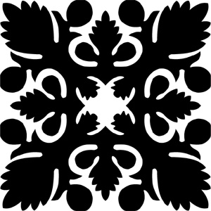 Hawaiian Quilt Tile 53 : HaoleKid