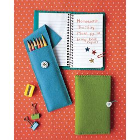 DIY felt pencil cases for back to school. I need to do this because my pencil case isn't that great! (: