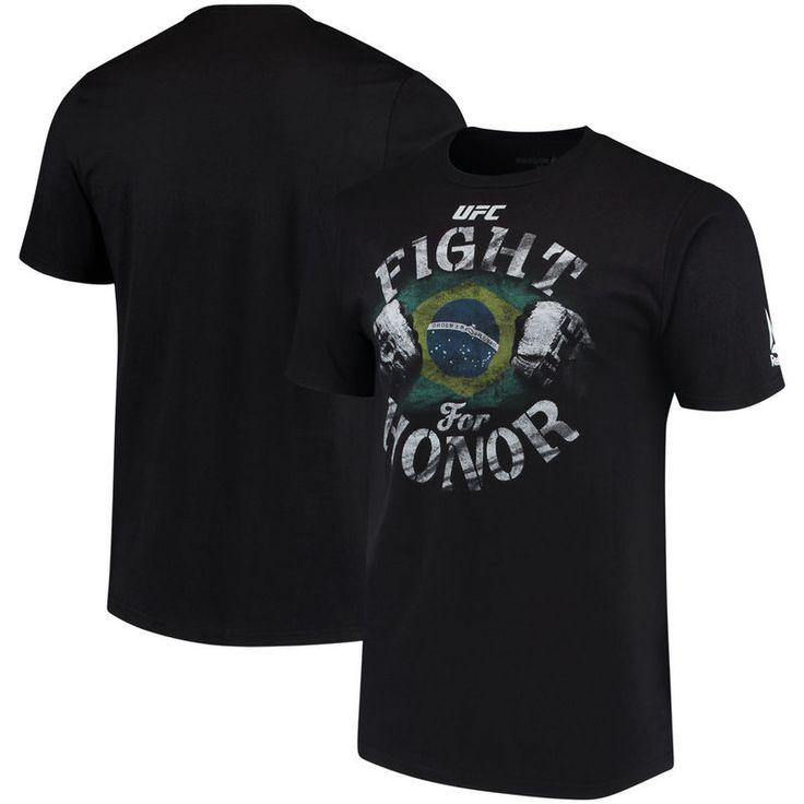 UFC Reebok Brazil Fight for Honor T-Shirt - Black