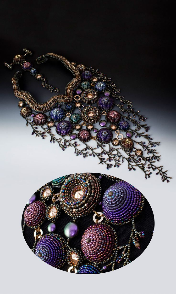 Jewelry Design - Bib-Style Necklace with Seed Beads and Swarovski Crystal - Fire Mountain Gems and Beads