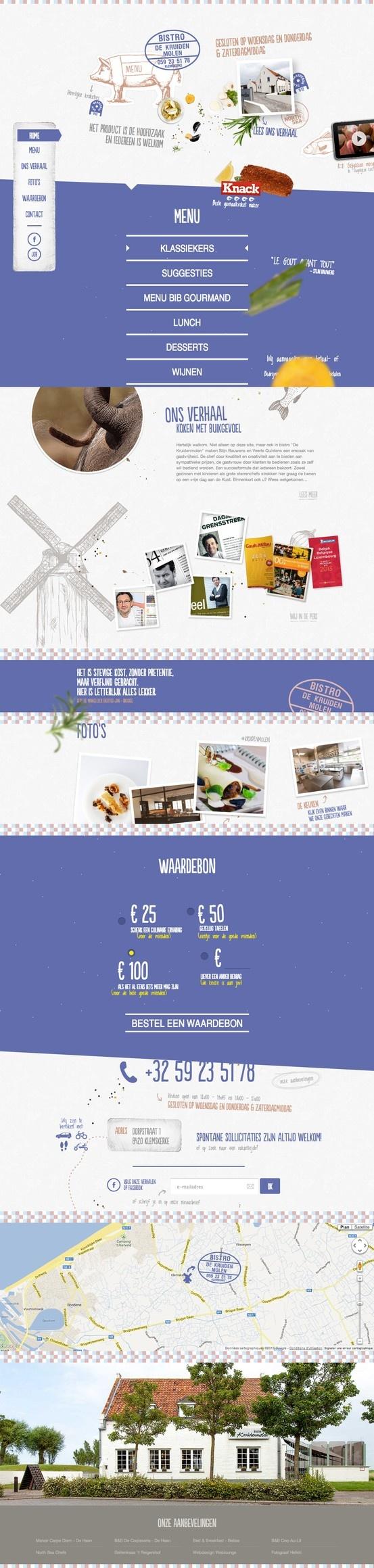 bright & unique bistro #webdesign